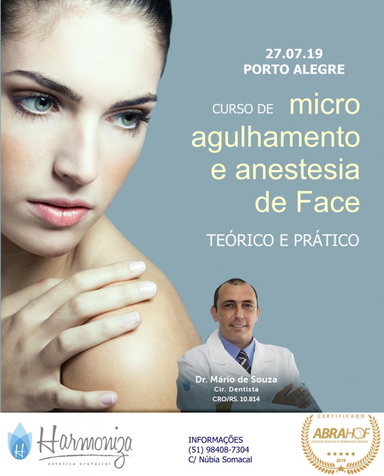 Curso de Microagulhamento, Skinbooster e Anestesia de Face