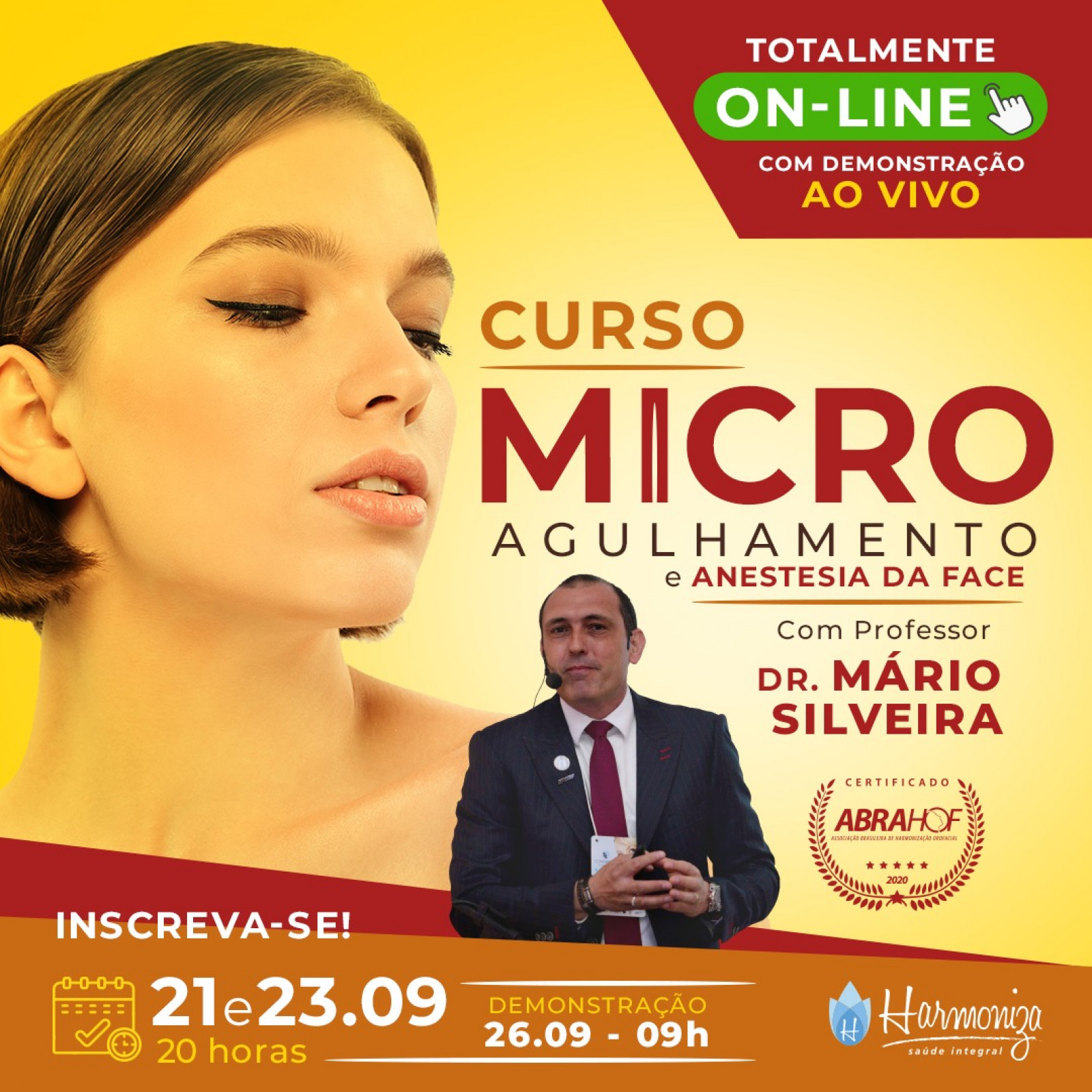 CURSO ON LINE MICROAGULHAMENTO E ANESTESIA DE FACE