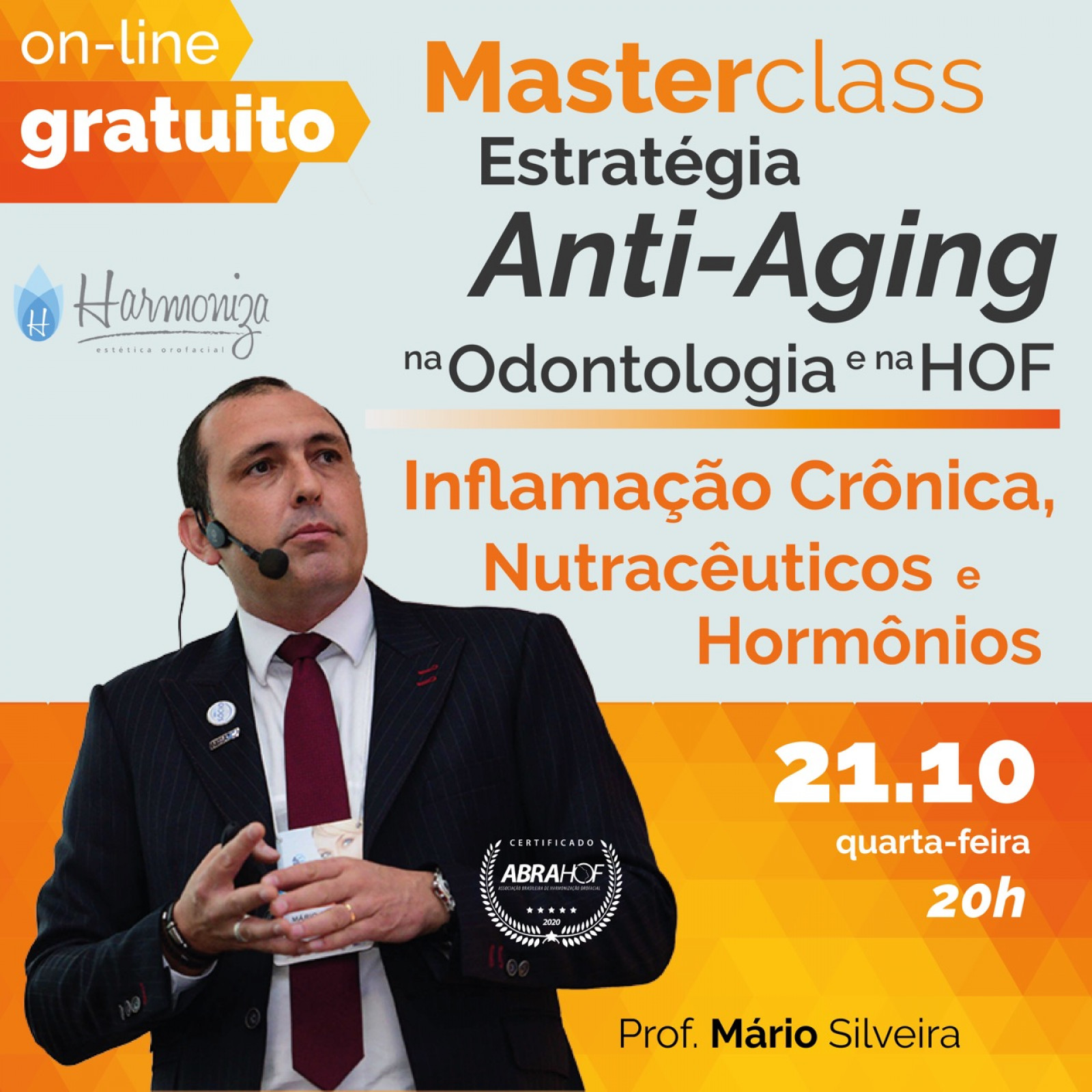 Master Class Estratégia Anti-Aging na Odontologia e na HOF
