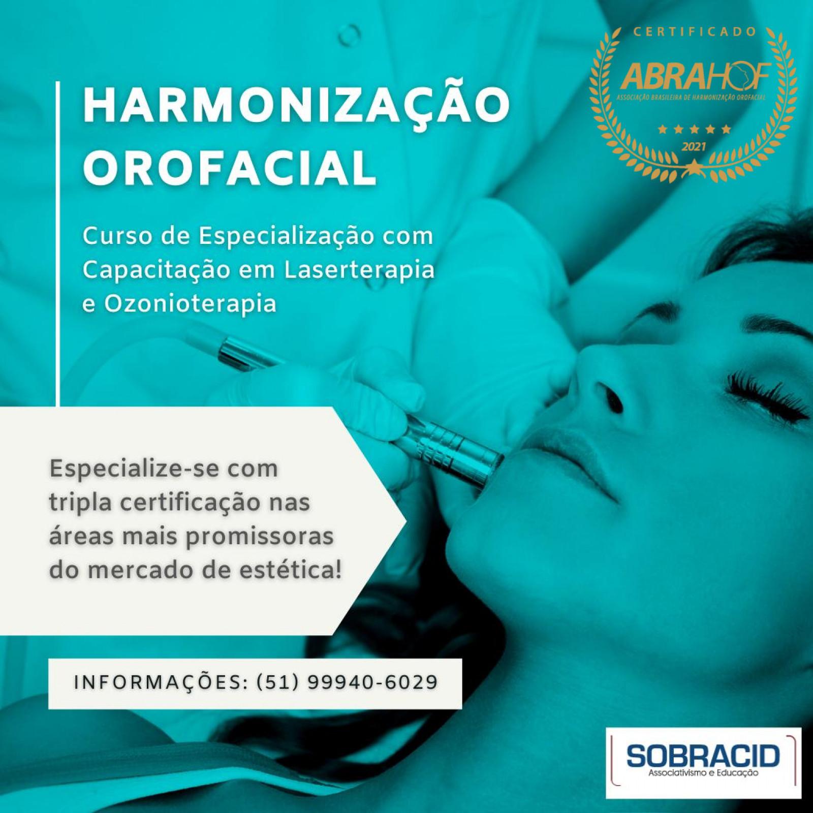 Especialização em Harmonização Orofacial (com Capacitação em Laserterapia e Habilitação em Ozonioterapia)
