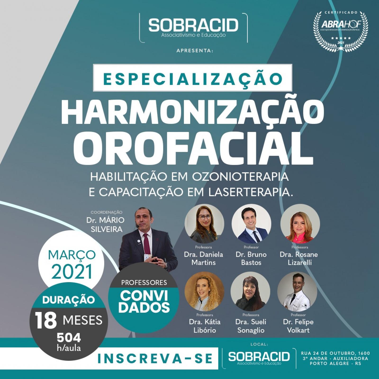 Especialização em Harmonização Orofacial (com Capacitação em Laserterapia Estética e Habilitação em Ozonioterapia)