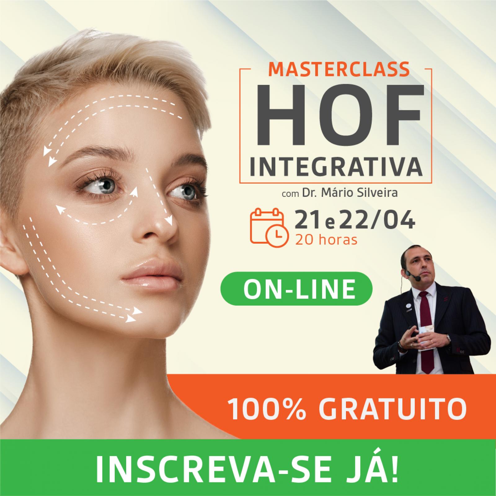 MasterClass:  2 palestras -> HOF Integrativa + Odonto Ortomolecular